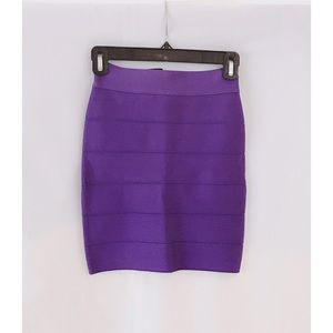 Bebe Purple Bandage Skirt XS
